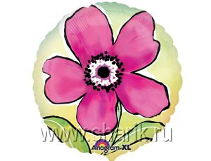 А 18 цветок рисунок розовый s40