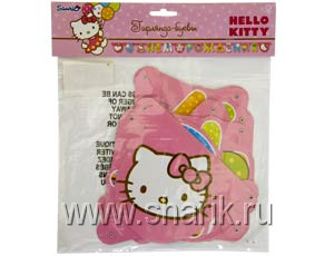 Гирлянда-буквы С ДР Hello Kitty 220см/A Ассорти из шаров